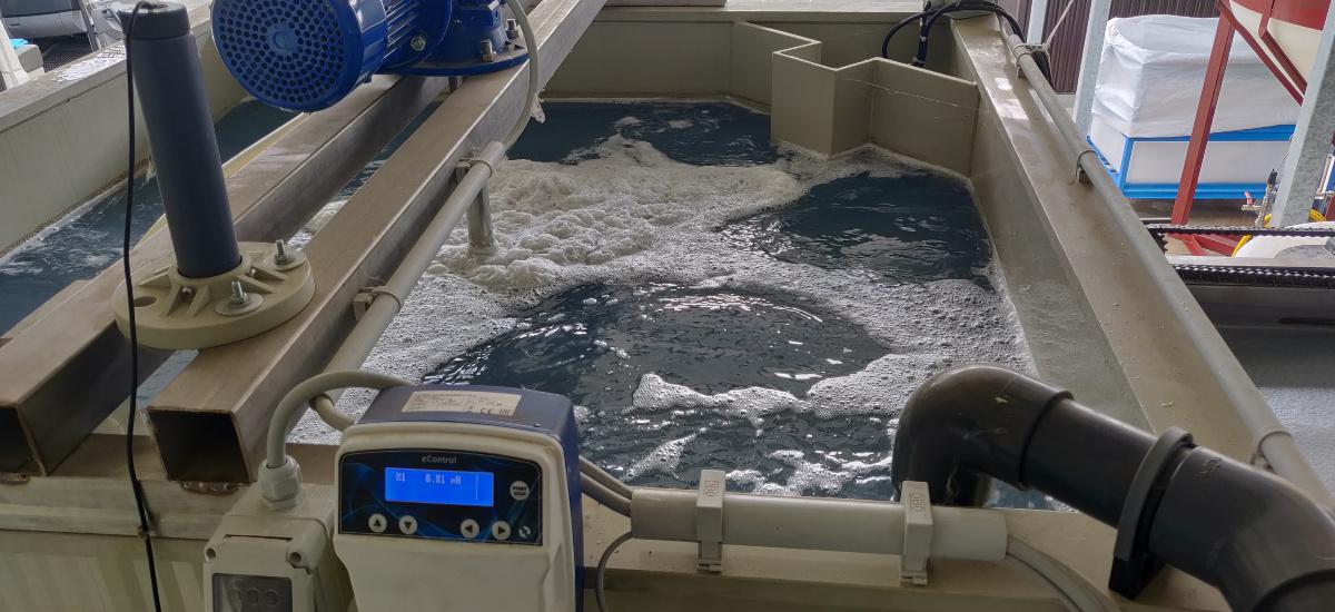 Impianto chimico-fisico con flottatore per la depurazione delle acque reflue di una conceria